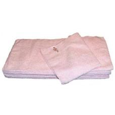 4 stuks Microvezeldoek gebreid (zware kwaliteit) 40 x 40 cm - Roze